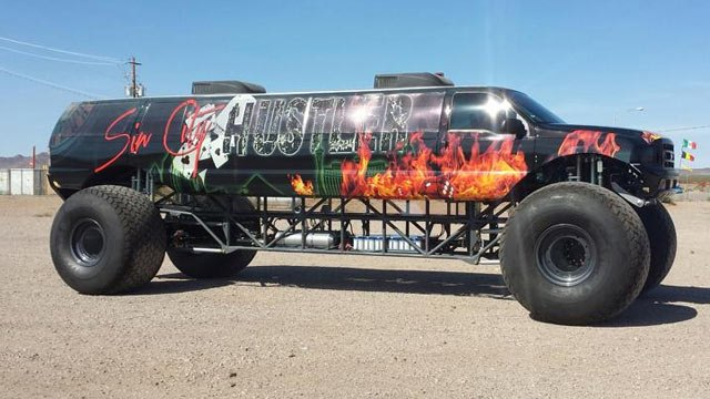 world's largest limo monster truck vegas